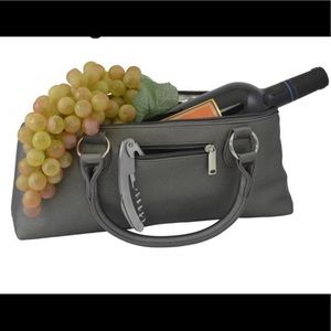 Handbags - Insulated Wine Clutch in Steel Gray